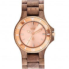 WEWOOD DATE MB NUT ROUGH_ROSE GOLD